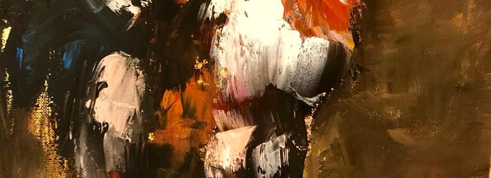 Rooster, Palette Knife Oil on canvas, 40