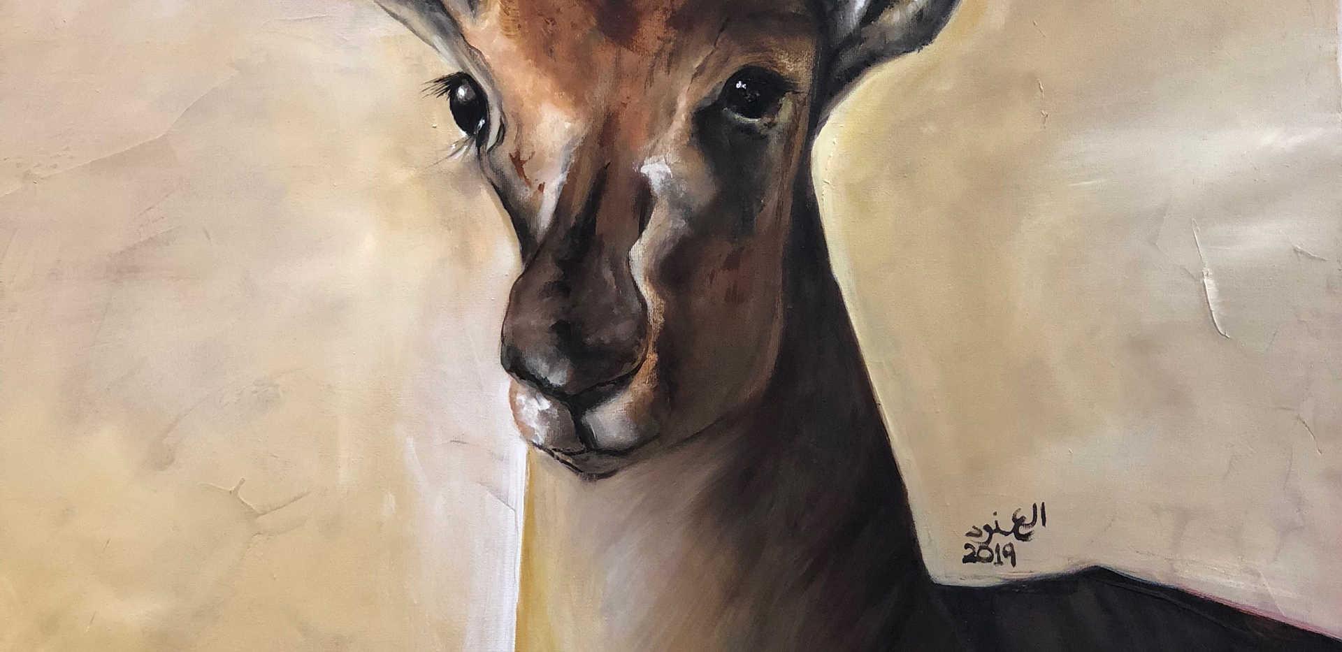 Alanoud, Oil on canvas, 100X70cm, Alanoud