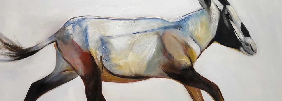 Alwadihi, Oil on canvas, 100x70cm, Israa Al Shamsi, 2018