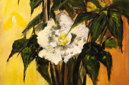 Still Life, Oil on canvas, 60x30cm, Dana