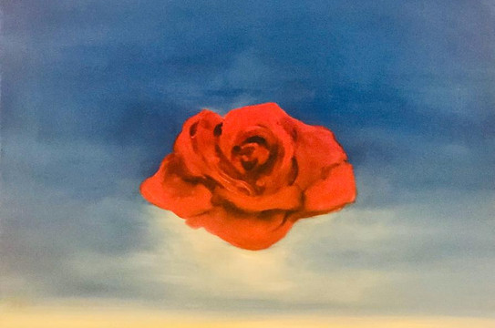 Flower, Oil on canvas, 70x50cm, Alyazi A