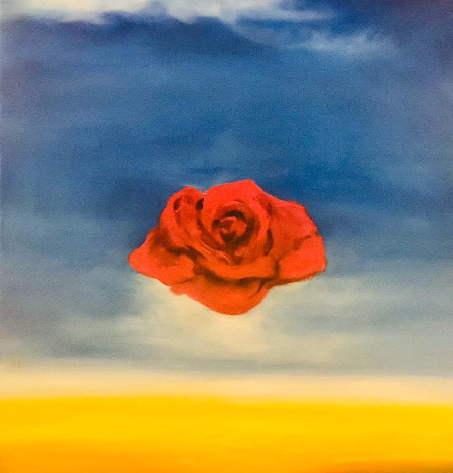 Flower, Oil on canvas, 70x50cm, Alyazi A