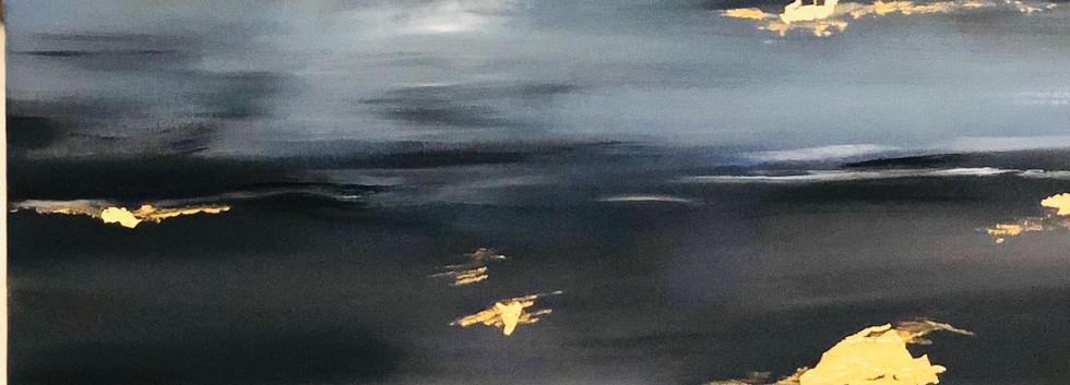 Abstract 2, Oil on canvas, 60x60cm, Mahr