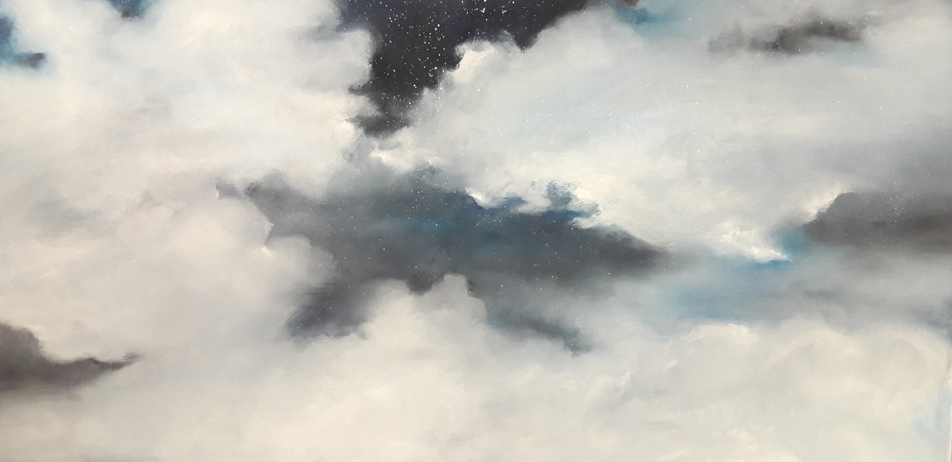 Clouds, Oil on canvas, 100x70cm, Alyazi