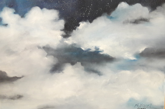 Clouds, Oil on canvas, 100x70cm, Alyazi