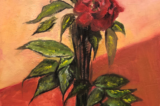Still Life, Oil on canvas, 40x30cm, Alya