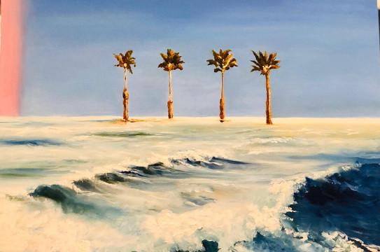 Seascape, Oil on canvasm 60x50cm, Alia S