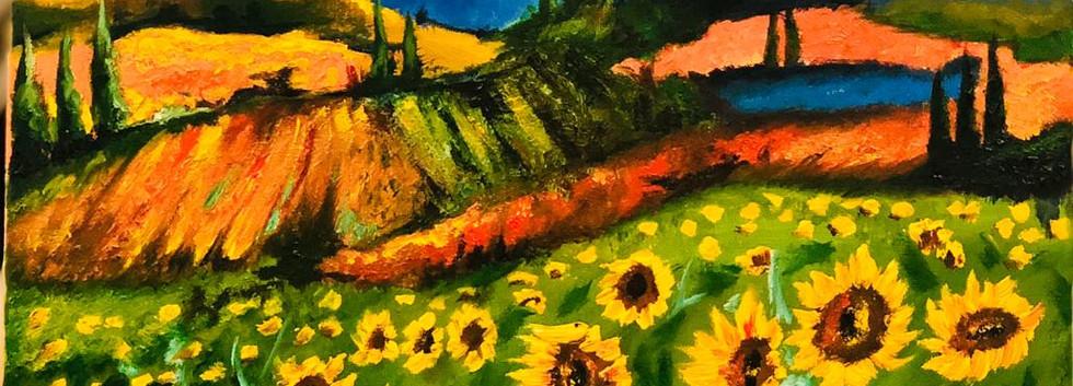 Landscape, Oil on canvas, 50 x 40cm, Jaw