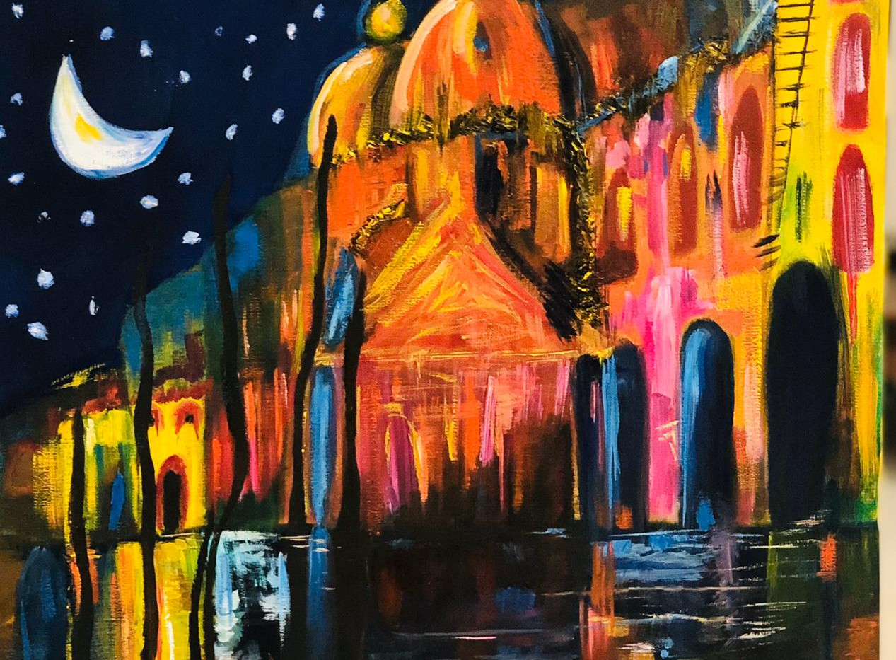 Indian Nights, Oil on canvas, 50x50cm, A