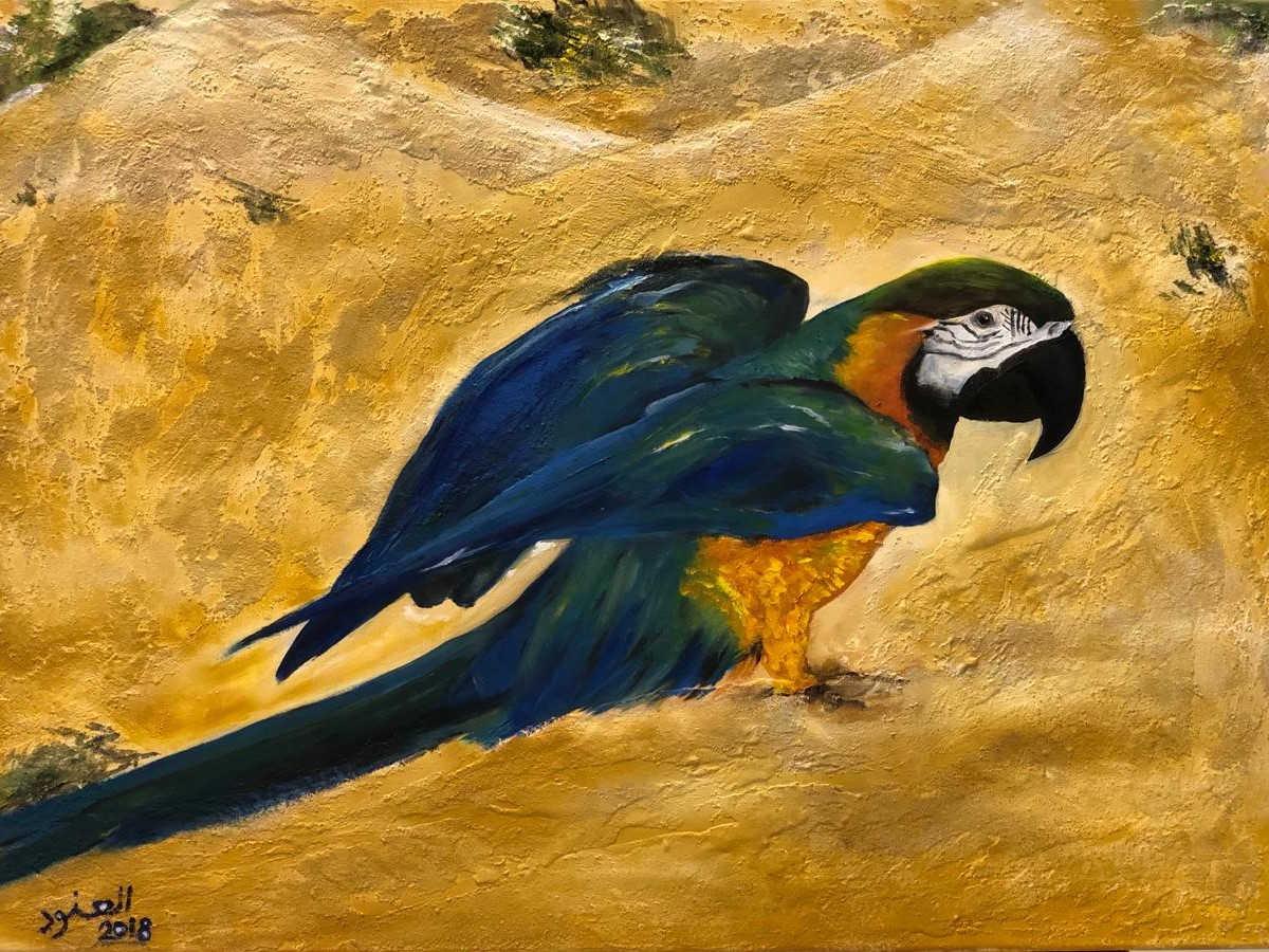 Maccao, Mixed media on canvas, 70x50cm, Al Anood AlHameli