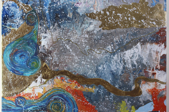 Desires, Mixed media on canvas, 100x80cm