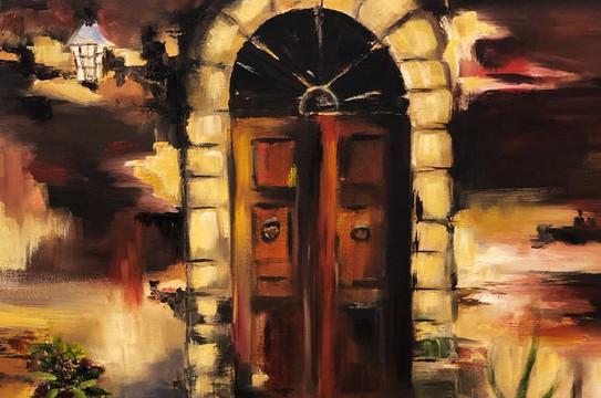 Door, Oil on canvas, 50x40cm, Salama Al