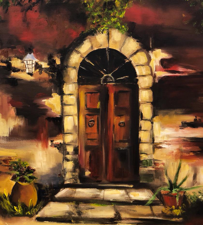 Door, Oil on canvas, 50x40cm, Salama Al