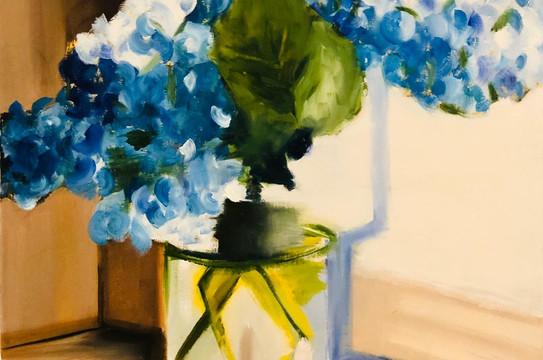 Still life, Oil on canvas, 40x40cm, Amna