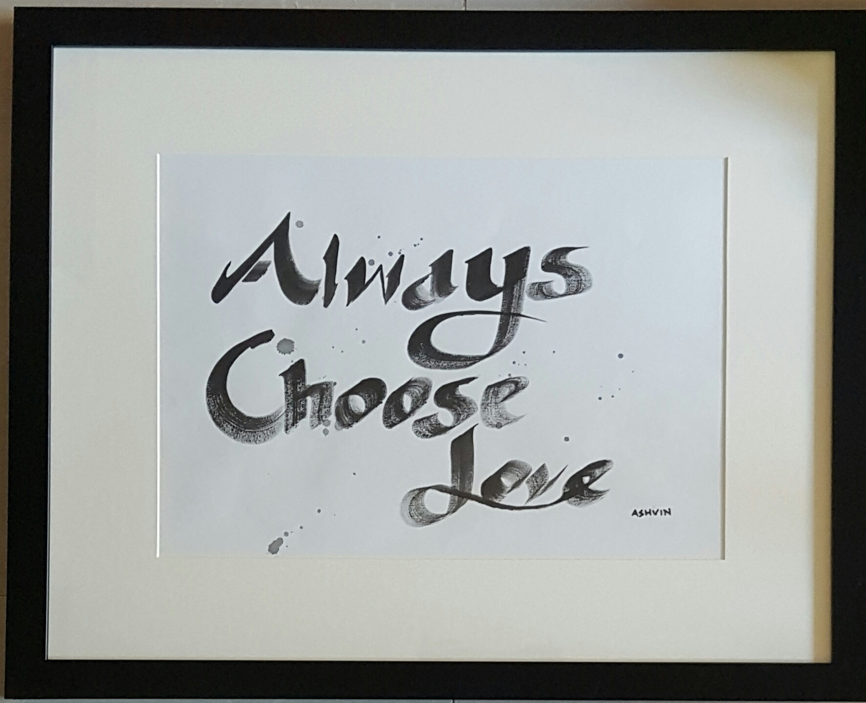 ALWAYS CHOOSE LOVE, ACRYLIC ON CANVAS, 150 x 100 cm