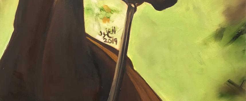 Horse, Oil on canvas, 90x60cm, Al Anoud Al Hameli, 2019