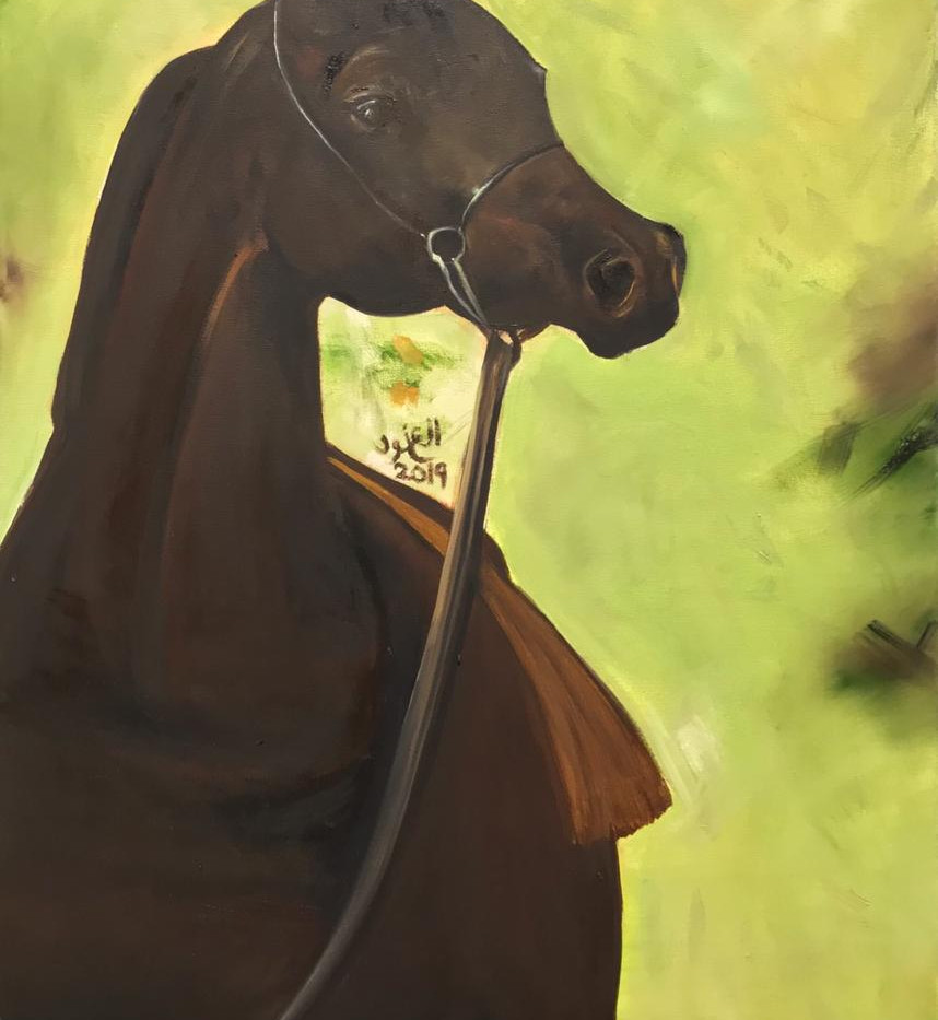 Horse, Oil on canvas, 90x60cm, Al Anoud