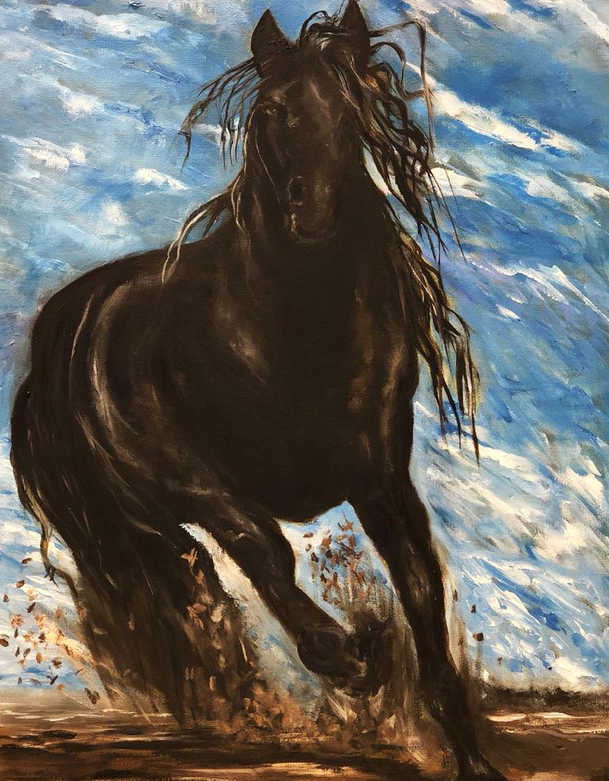 Horse, Oil on canvas, 60x40cm, Al Anoud
