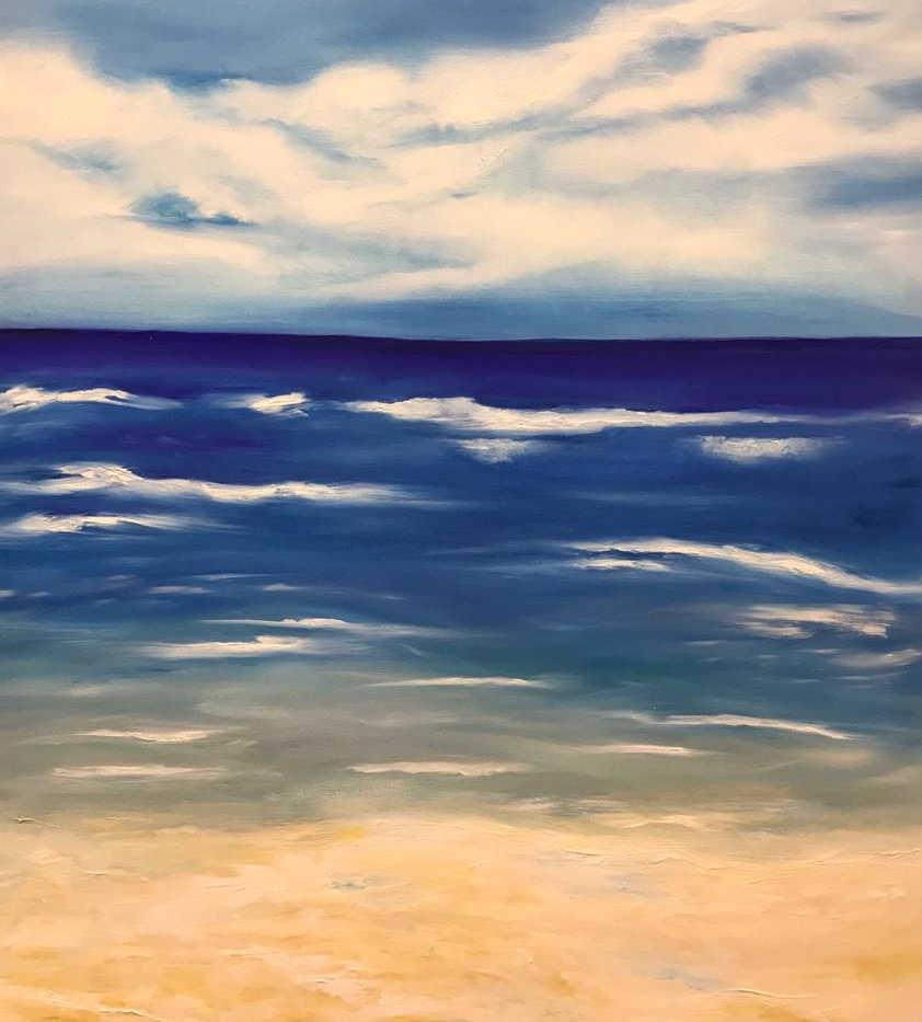 Seascape, Oil on canvas, 90x60cm, Abeer Al Rasbi, 2019