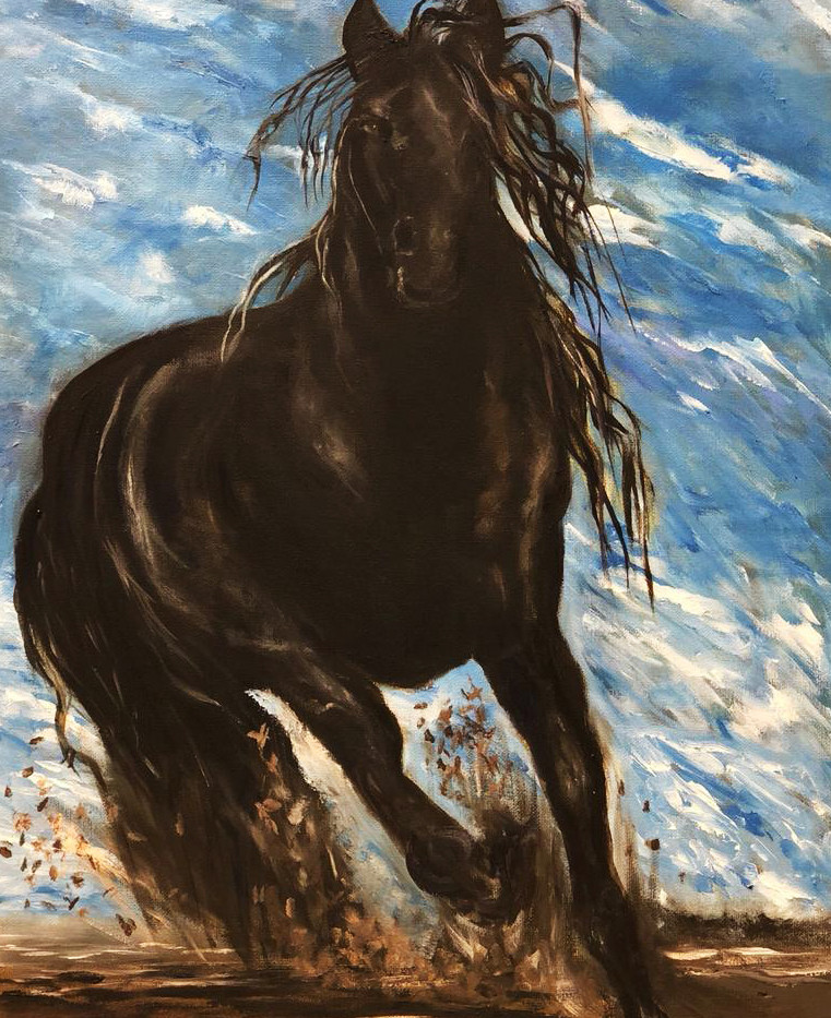 Horse, Oil on canvas, 60x40cm, Al Anoud