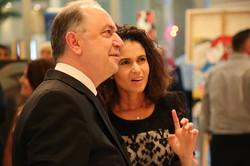 الفنانة ناديا نجاري مع سعادة سفير لبنان السيد حسن يوسف سعد