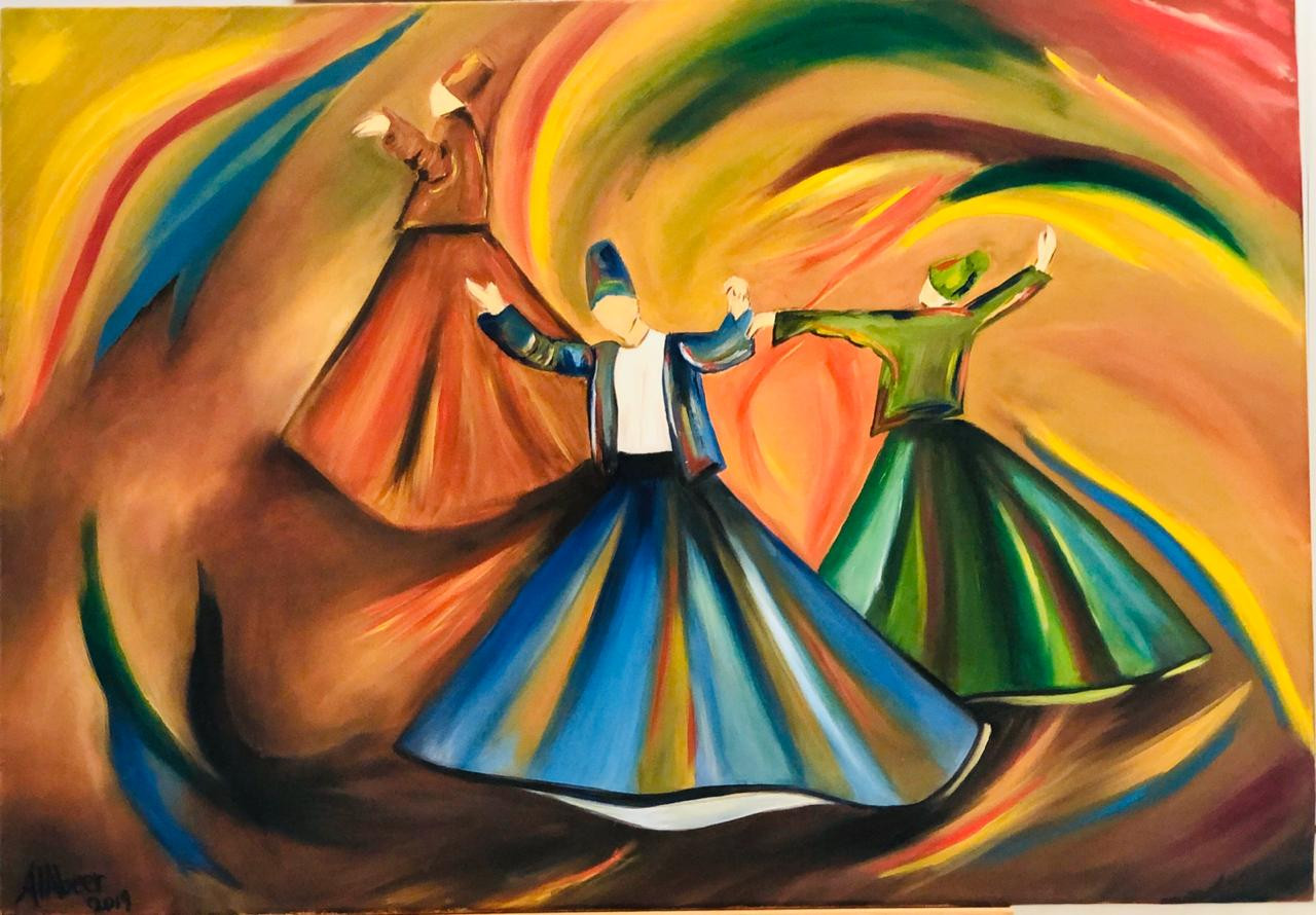 Dancers, Oil on canvas, 100x70cm, Abeer