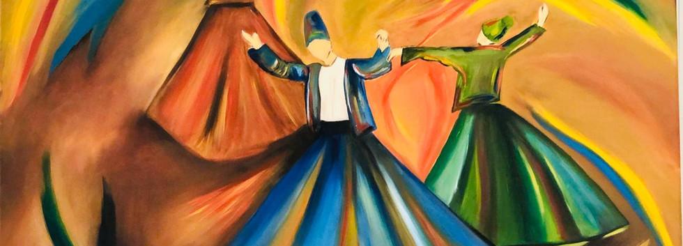 Dancers, Oil on canvas, 100x70cm, Abeer