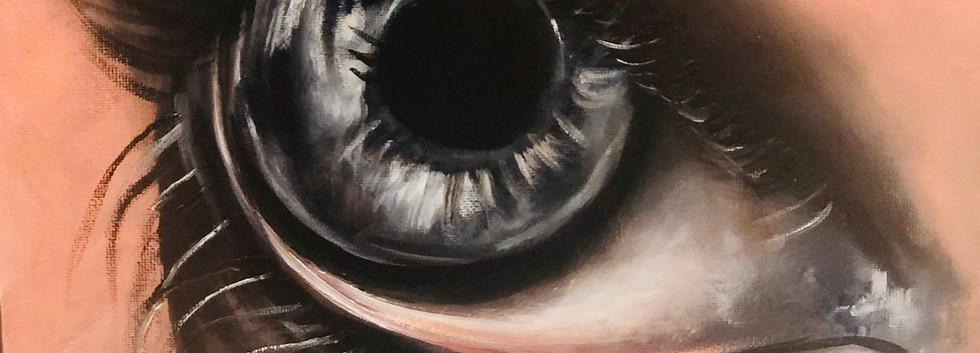 Eyes, Oil on canvas, 35x30cm, Alyazi Al
