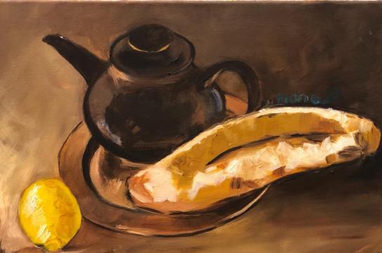 Still Life II, Oil on canvas, 40x30cm, M