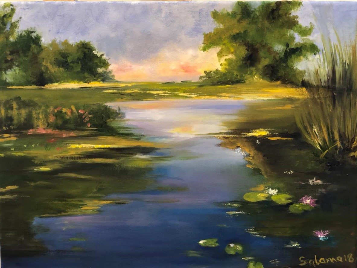 Landscape II, Oil on canvas, 40x30cm, Sa