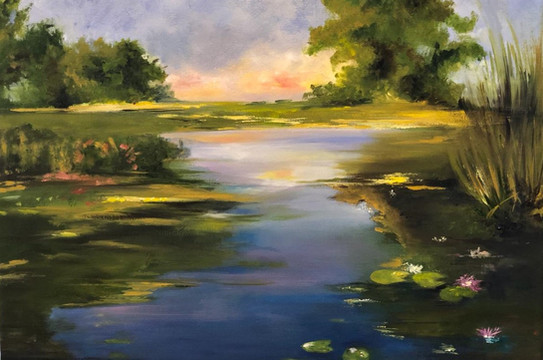 Landscape II, Oil on canvas, 40x30cm, Sa