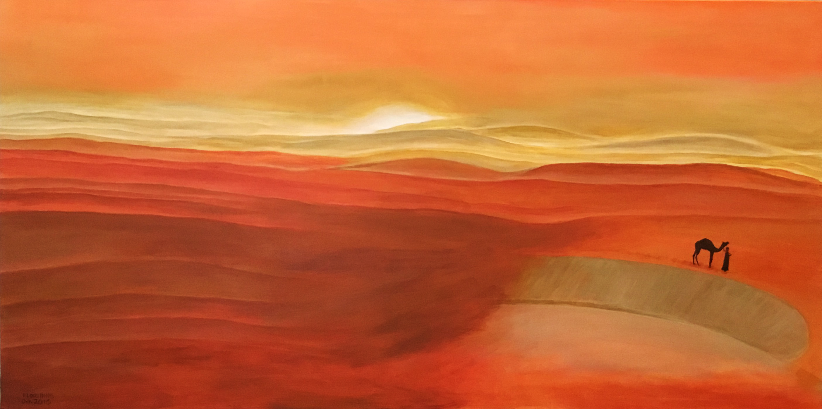 Desert Wind, Acrylic on canvas 120X60 cm