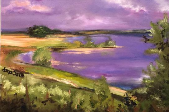 Landscape I, Oil on canvas, 40x30cm, Dan