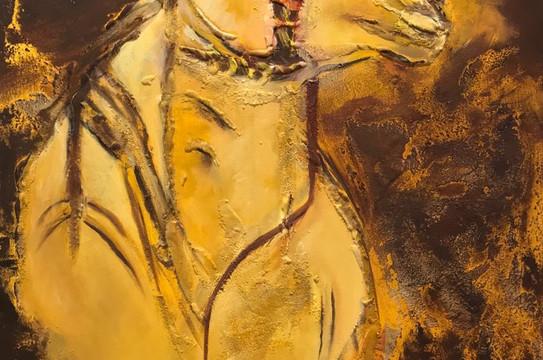 Camel, Mixed media on canvas, 70x50cm, A