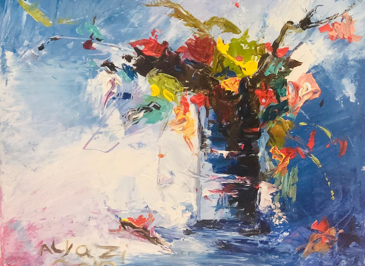 Still Life, Palette knife on canvas, 35x