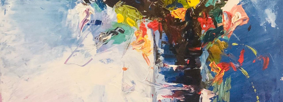 Still Life, Palette knife on canvas, 35x