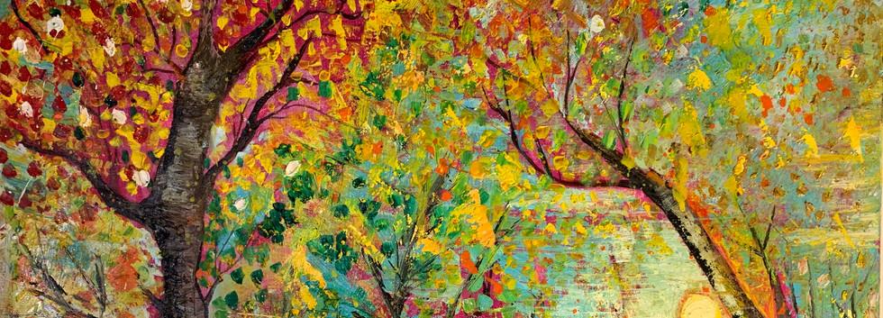 Fantasy, Mixed media on canvas, 50x50cm,