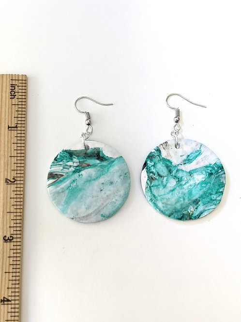 Round abstract earrings