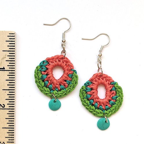 summertime cotton and clay earrings