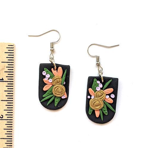 Warm bouquet earrings