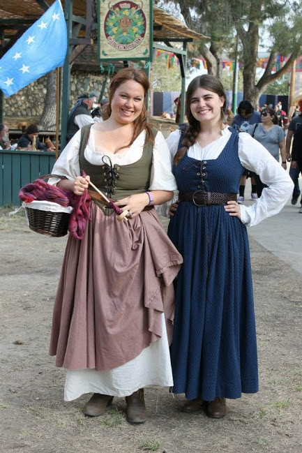 two women in Renaissance garb