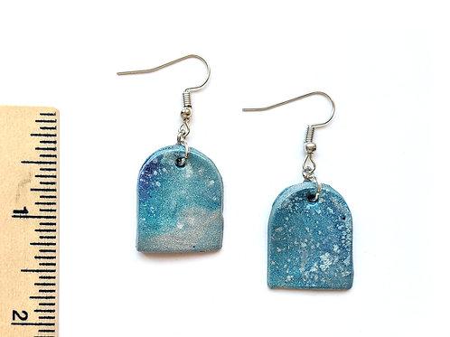 snowflake clay earrings