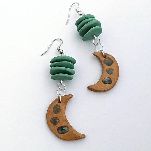 Moon balance earrings