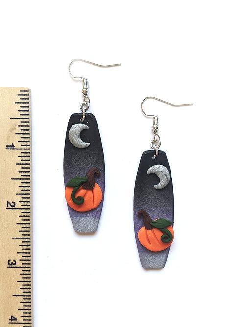 pumpkin moon earrings