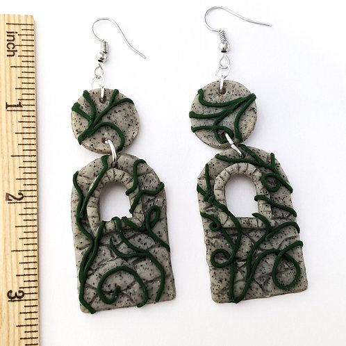 fairytale tower handmade earrings