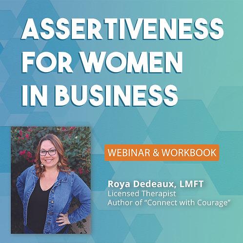 Assertiveness for Women in Business webinar