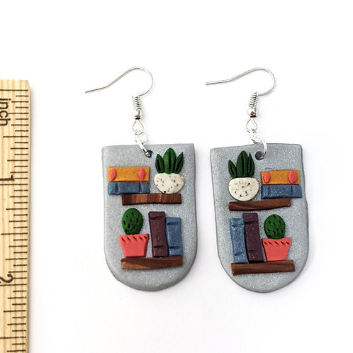 book lover handmade earrings