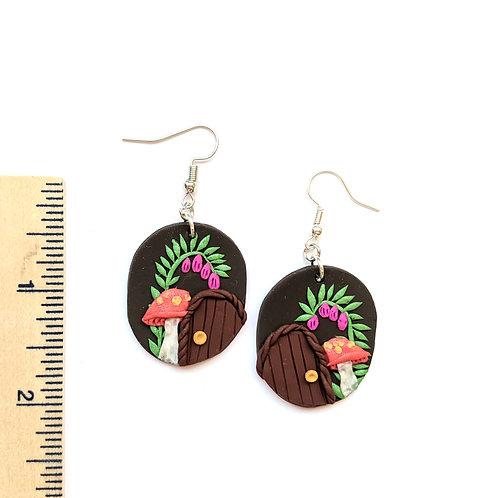 fairy door and mushroom earrings