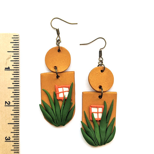 tropical window earrings
