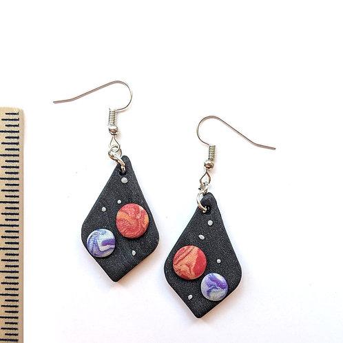 planetary earrings